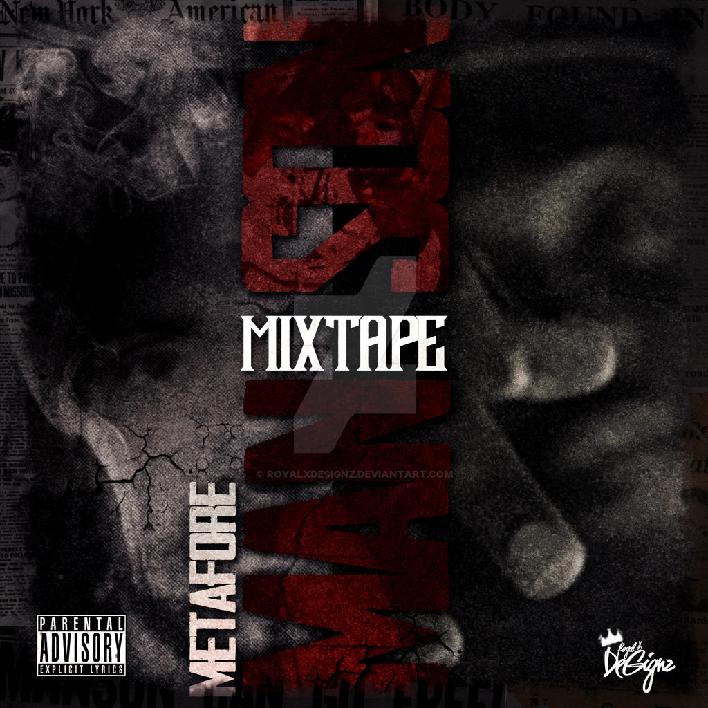 Therealmetafore mixtape cover template psd l by royalxdesignz on deviantart for Free mixtape covers templates
