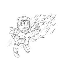 Rauru using fire magic