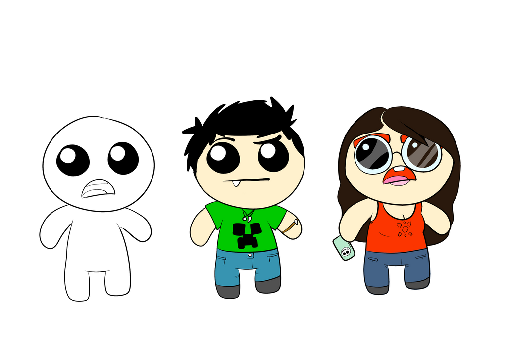 Make your own Isaac template! + 2 characters by molegato on DeviantArt