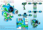 Portfolio: Green/Blue Mecha by molegato
