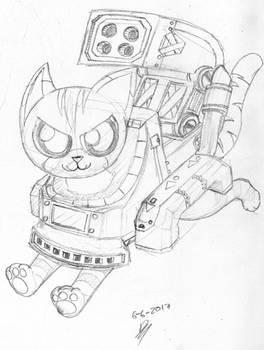 Supersonic Tank Cats: Whisky Sketch