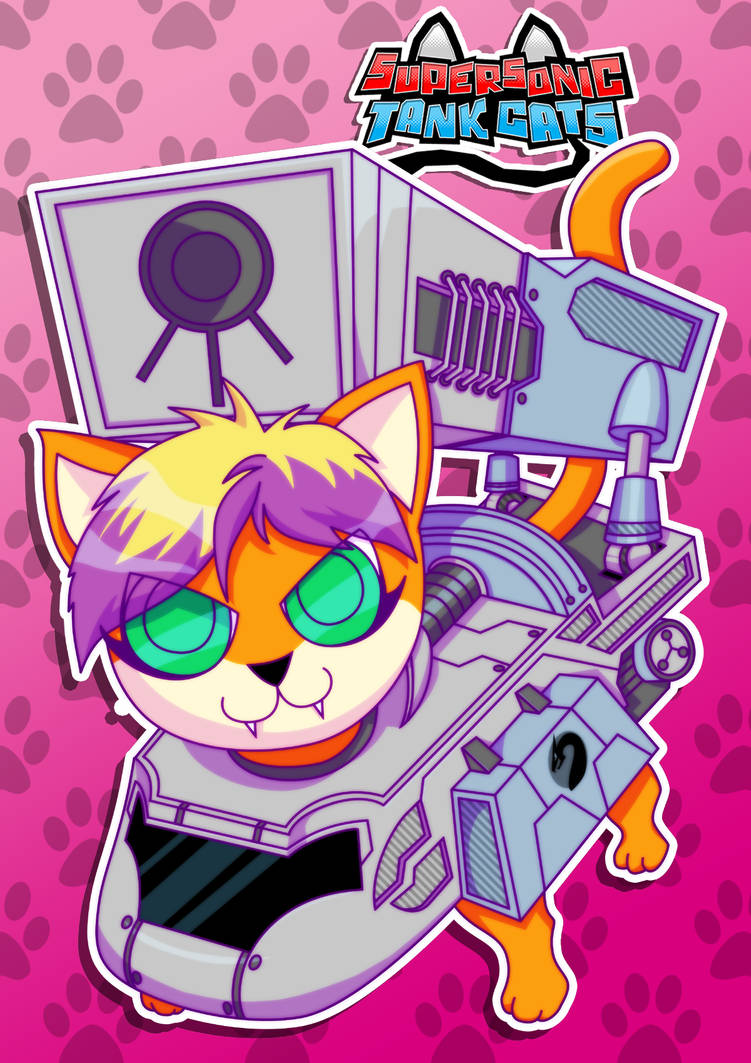 Supersonic Tank Cats: Spark Portrait by molegato