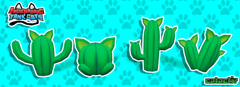 Supersonic Tank Cats: Catcactus?! by molegato