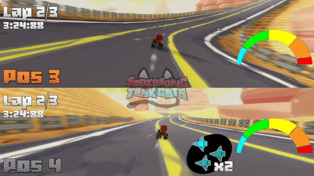 Supersonic Tank Cats: Splitscreen Multiplayer WIP by molegato