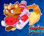 Supersonic Tank Cats: Tutu portrait by molegato