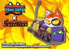 Supersonic Tank Cats: Calico portrait
