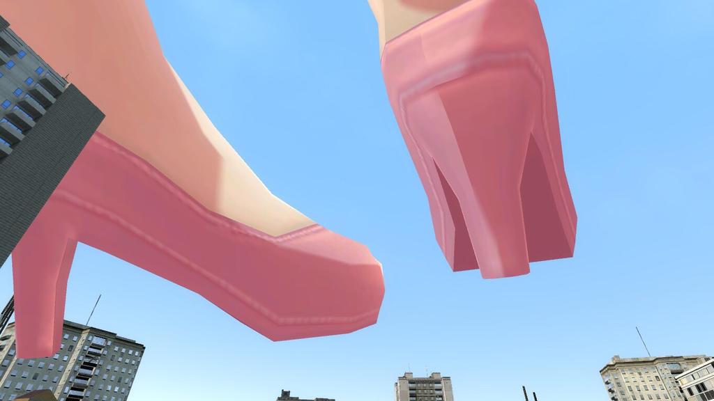 Giantess Haruka Foot Stomp by FireControl