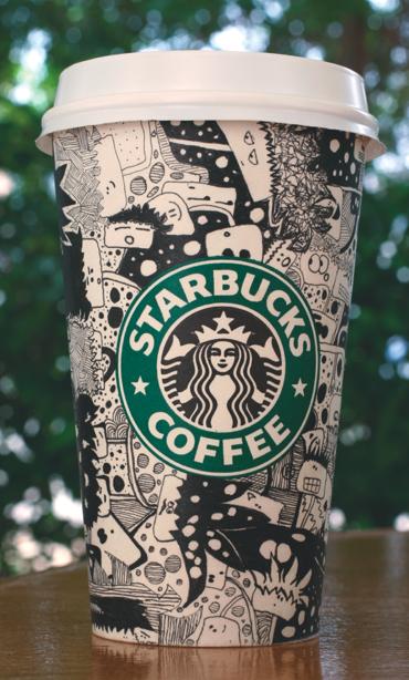 Starbucks cup Artwork by i-am-chicken on DeviantArt