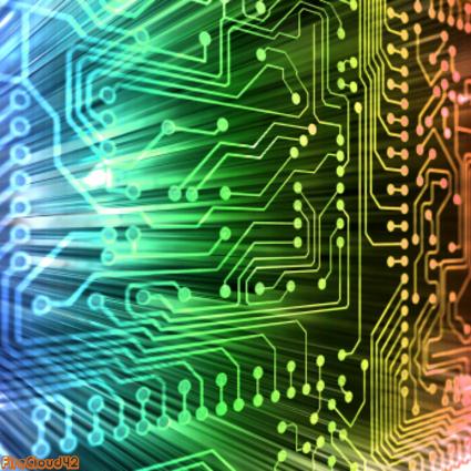 Computer Chip rainbow
