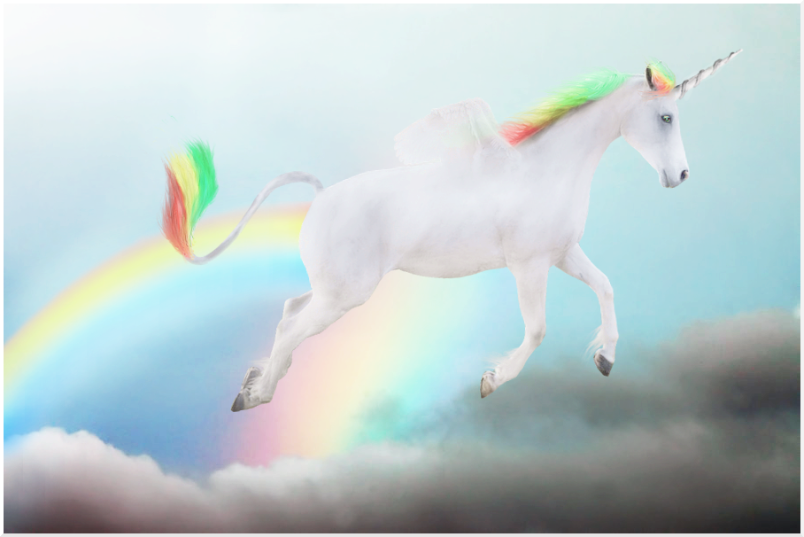 Unicorn With Wings And Rainbow | www.imgkid.com - The ...
