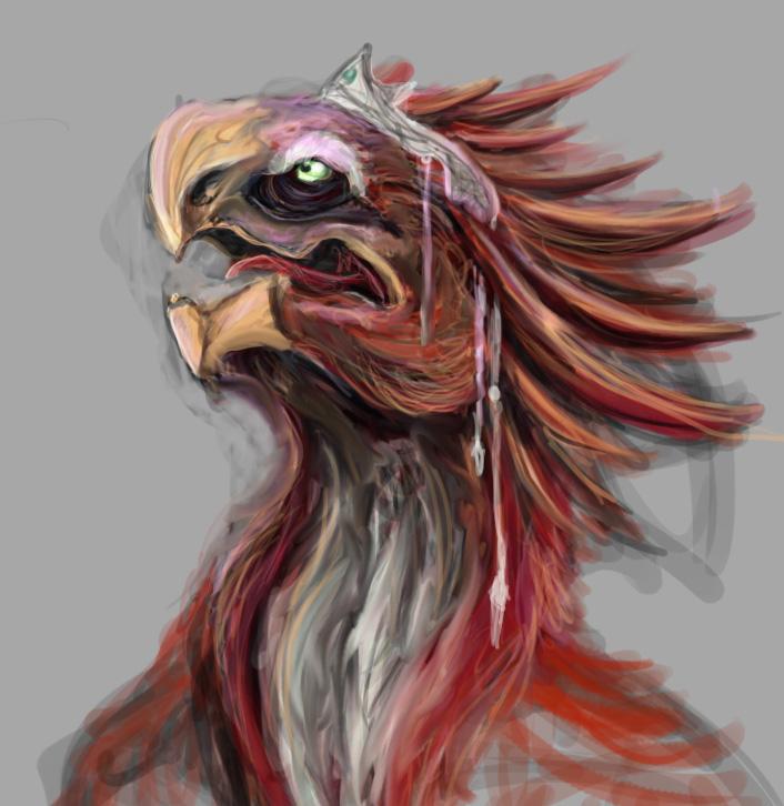 Avian Alien Sketch by Sartanis