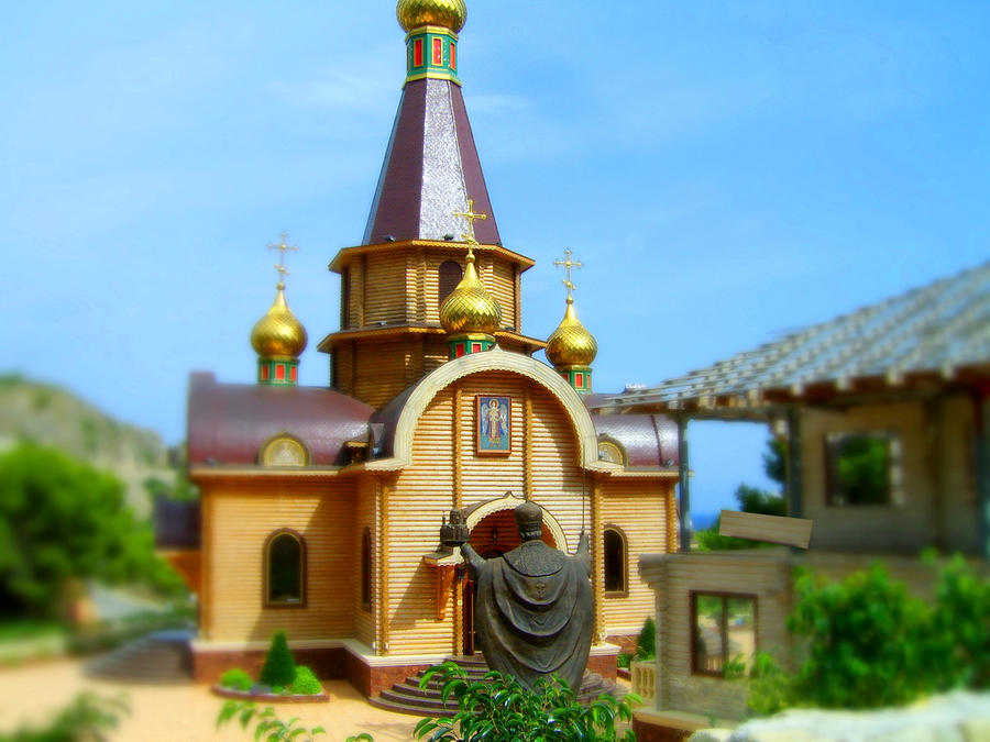 Tilt Shift 'Matchstick Church'