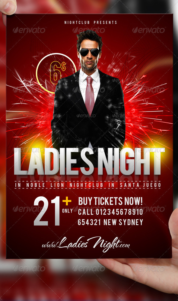 Ladies Night Party Flyer Template PSD by LordFiren on ...