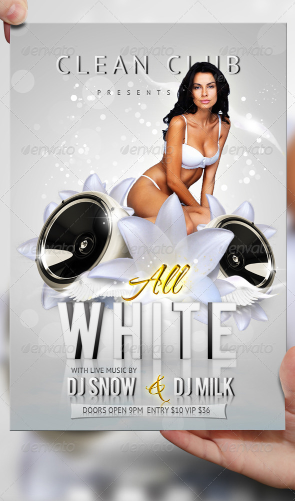 All White Party Flyer Template Psd By Lordfiren On Deviantart