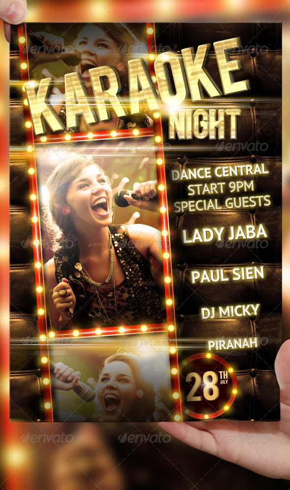 Karaoke Night Party Flyer Template By LordFiren ...