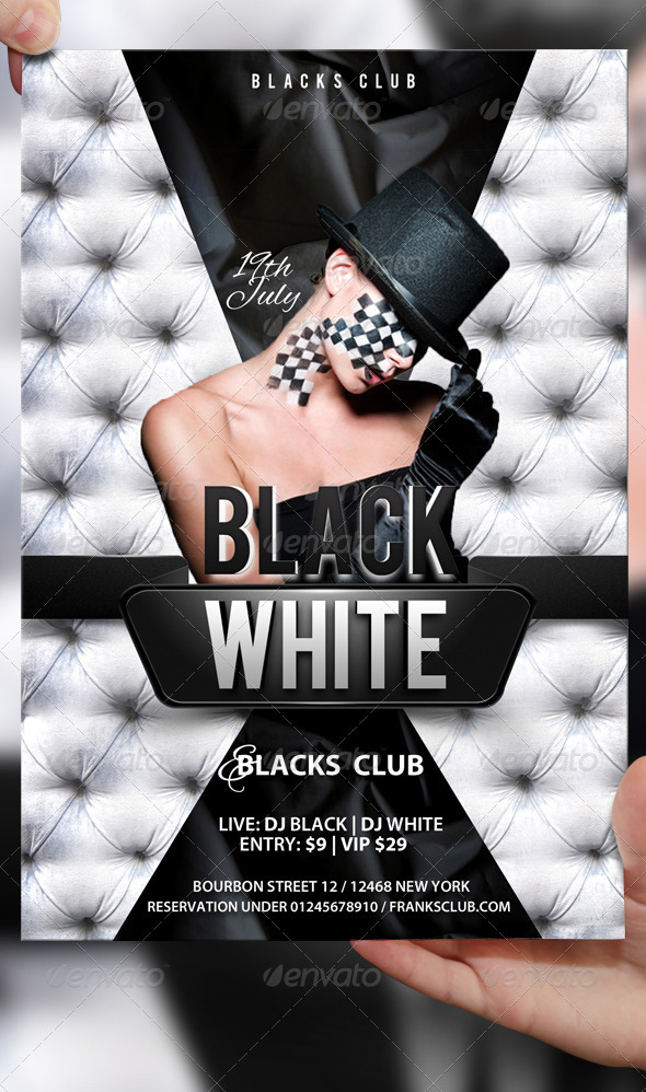 Black and white flyer template by lordfiren