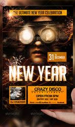 New Year Flyer Template by LordFiren