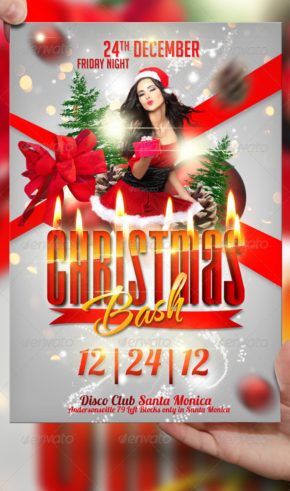 Christmas Bash Flyer Template By Lordfiren On Deviantart