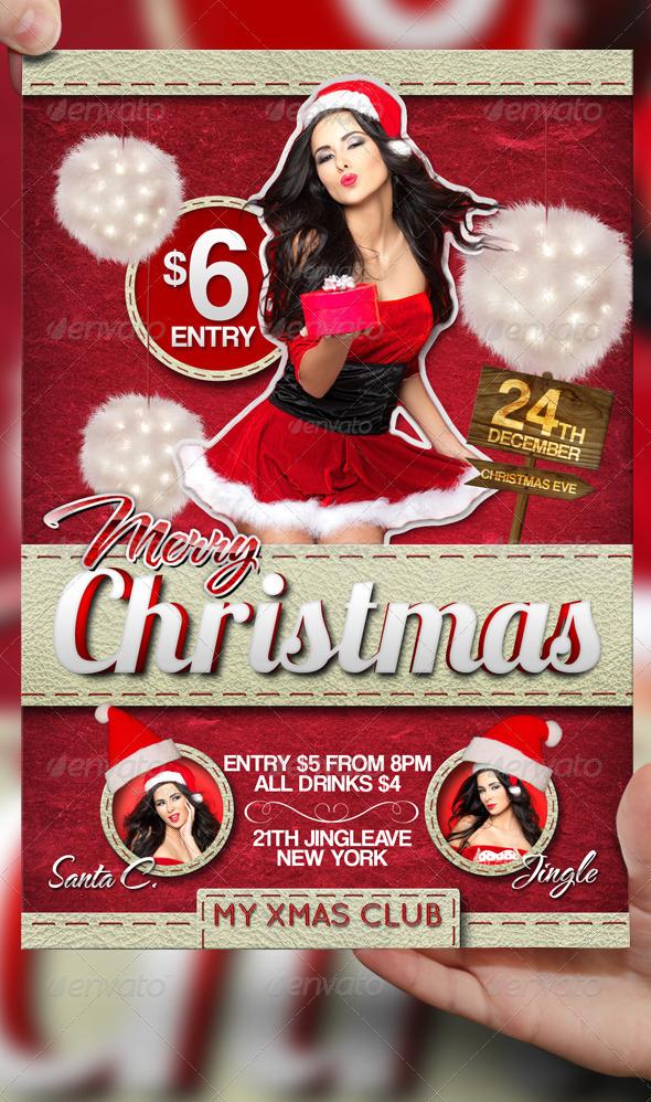 Merry Christmas Flyer Template By Lordfiren On Deviantart