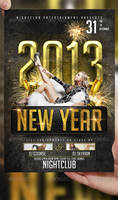 2013 New Year Flyer Template