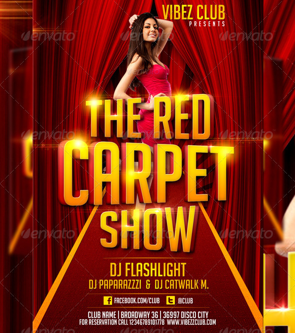 DeviantArt: More Like Red Carpet Show Flyer Template by LordFiren