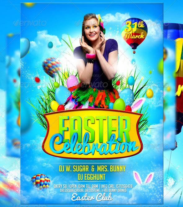 Easter Celebration Flyer Template By Lordfiren On Deviantart