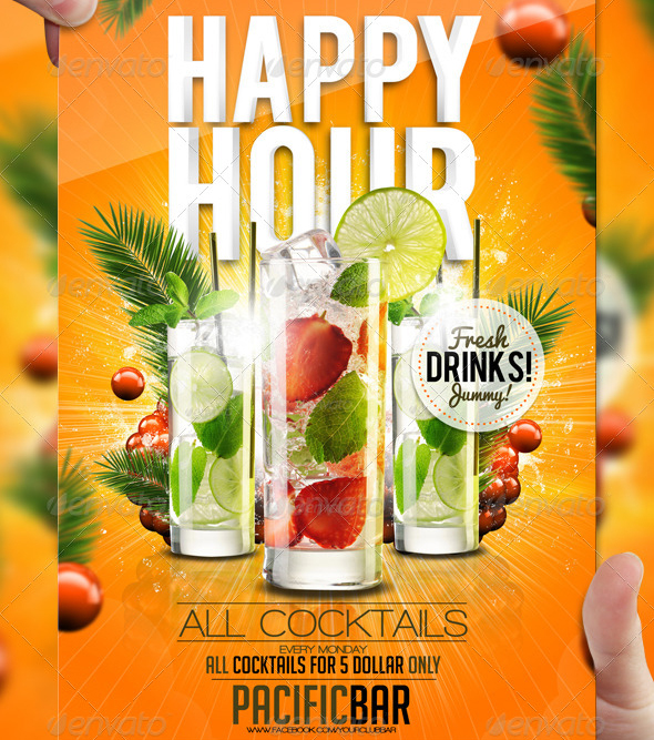 Drink Promotion Flyer Template A5 By Lordfiren On Deviantart