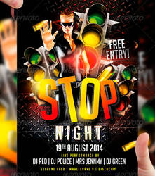 STOP Night Flyer Template