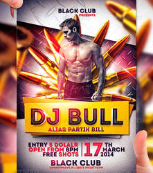 DJ Bull Flyer Template