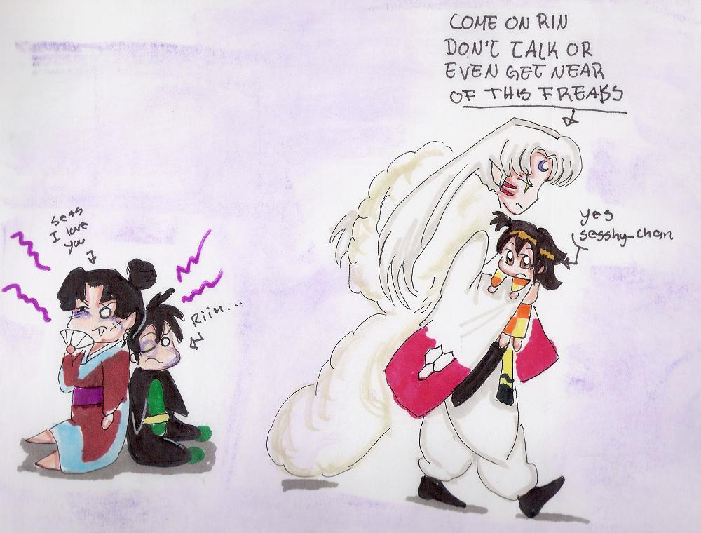 Sesshomaru Family fuck off kagura by alma-chan