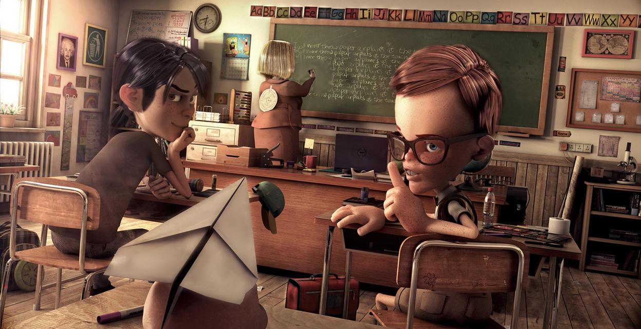Classroom by AdiChan