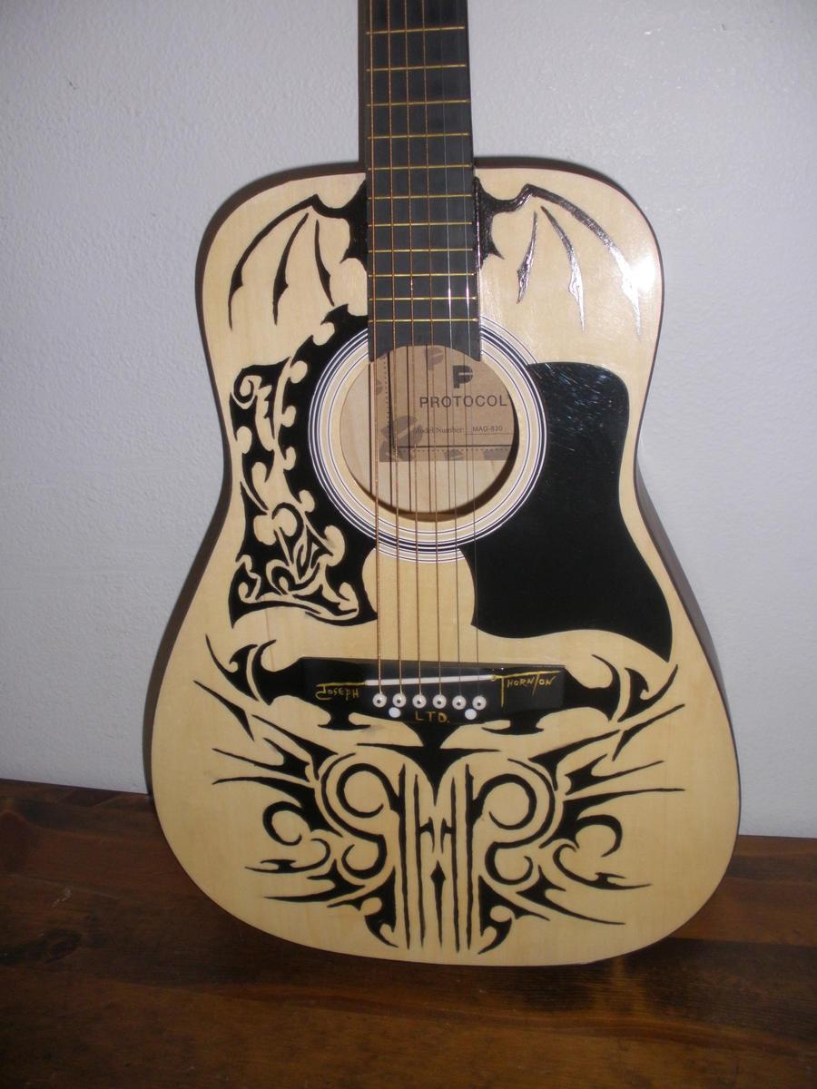 tribal acoustic guitar by destroyingangel23 on deviantart