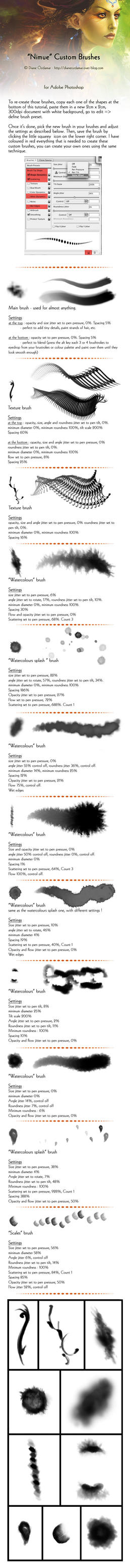 Nimue Brushes Tutorial by Dianae