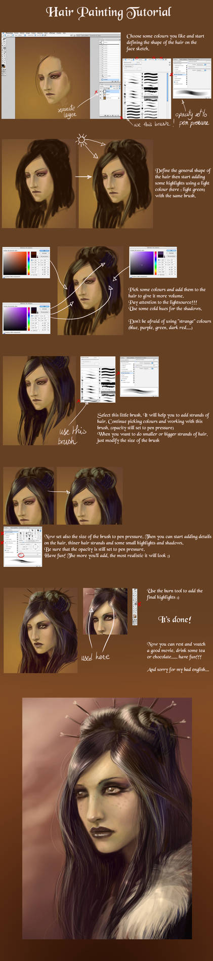 Hair painting tutorial