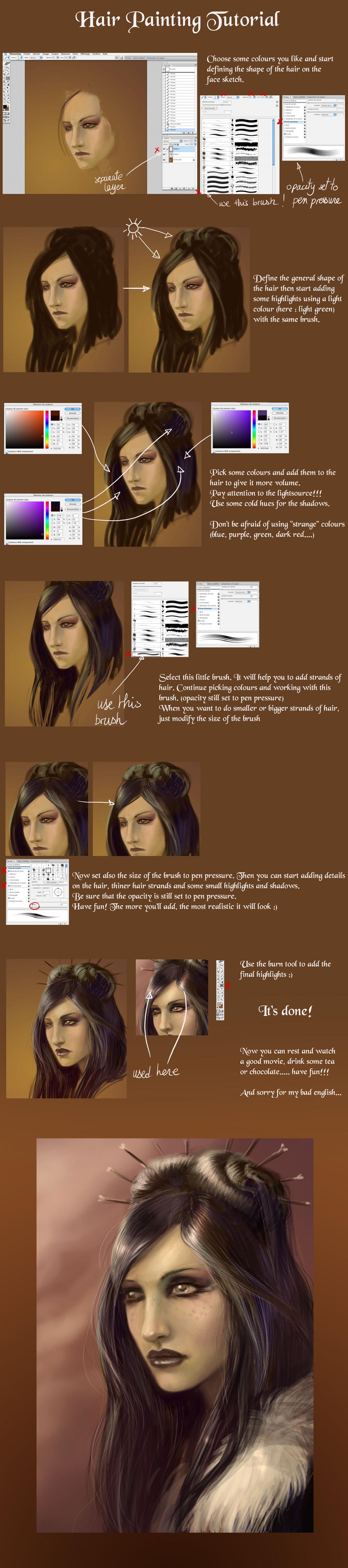 noony4 a fait une line numérique attention. [noony4] - Page 2 Hair_painting_tutorial_by_Dianae
