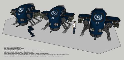 GUN Vulture series gunship drone