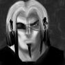 Here is a moody portrait in monochrome by GrumpySkunk