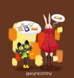 Friends by KingNeonHappy