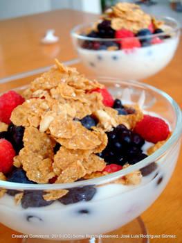 Forest fruit yoghurt