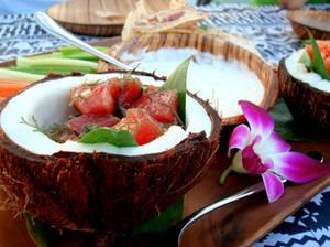 Hawaiian coconut tuna