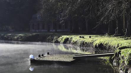 Parc d'Enghien - Lac miroir sous la brume HDR