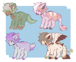 Adopts round 2! [1/4 OPEN] by heart-potions
