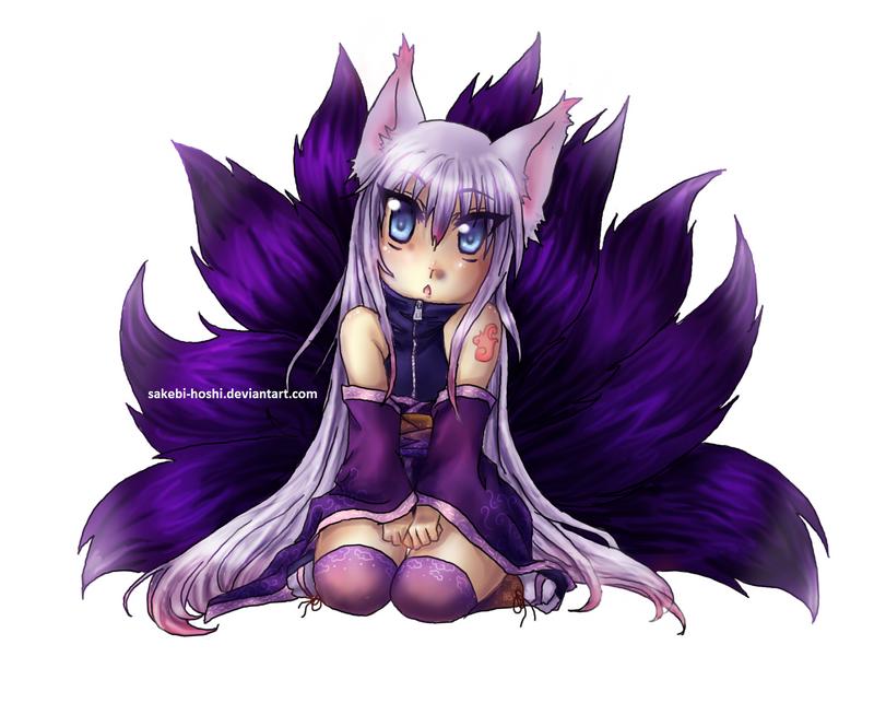 Dark Kitsune Girl by sakebi-hoshi on DeviantArt