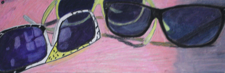 Sunglasses Oil Pastel by FrankTheSixFootBunny