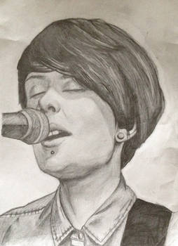 Tegan Quin Pencil Drawing