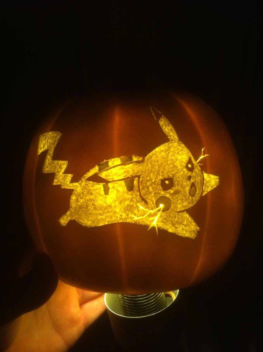 Pikachu Pumpkin Revision 1 by tubanome