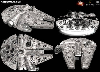 Star Wars Galaxies millennium falcon by Artsomniac