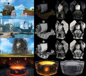 Skylanders game cinematics