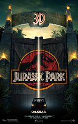 Jurassic Park 3D poster by Artsomniac