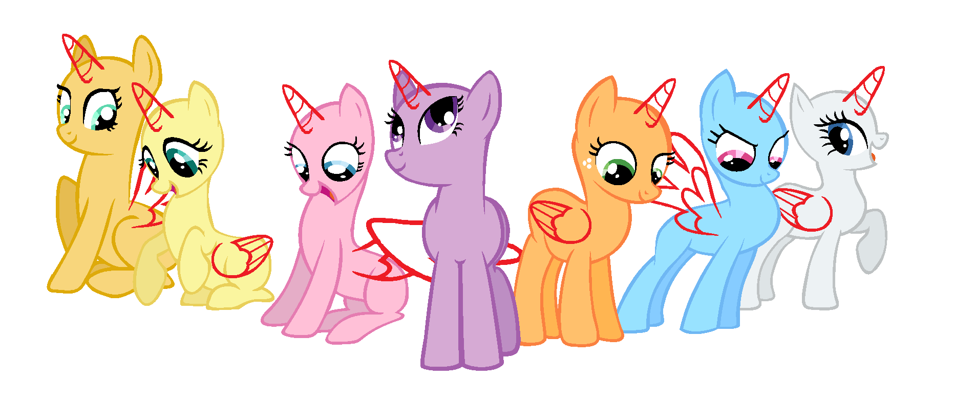 1 Base Elements of Harmony Mane 7 by laurka13579 on DeviantArt
